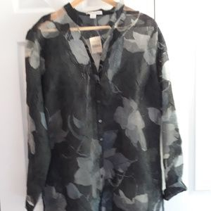 Coldwater Creek Sheer Tunic Over Bouse